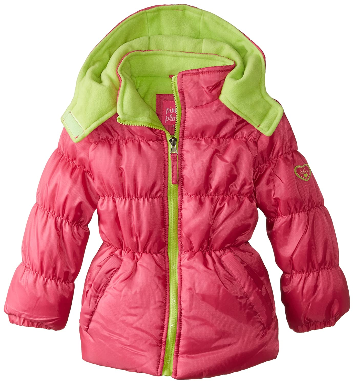 Pink Platinum Girls' Ripstop Puffer Jacket Fuchsia 2T Pink Platinum Girls 2-6x