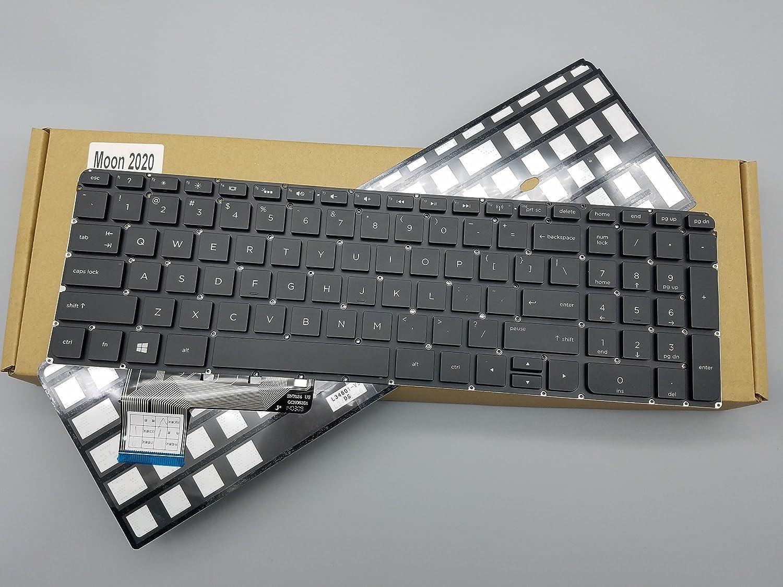 Moon2020 Replacement Keyboard with Backlit NO Frame M6-K M6-K000 M6-K100 M6-k054ca M6-K001 Series Black US Layout, Compatible Part Number PK130UM2F00 725450-001 7J1450 V140902ES1 M6-K