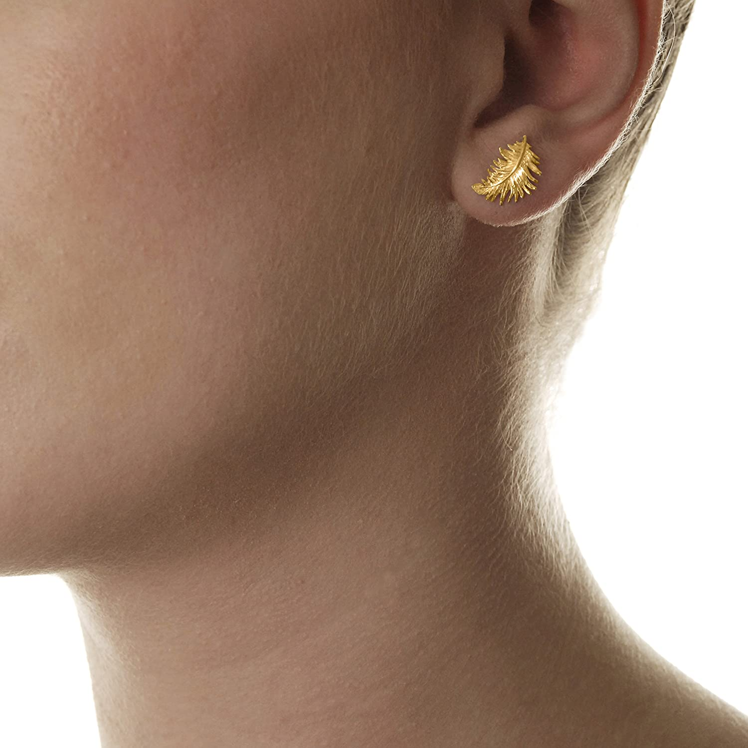 Dower & Hall Feather Stud Earrings