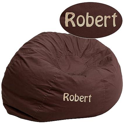 Brown adult size bean bag