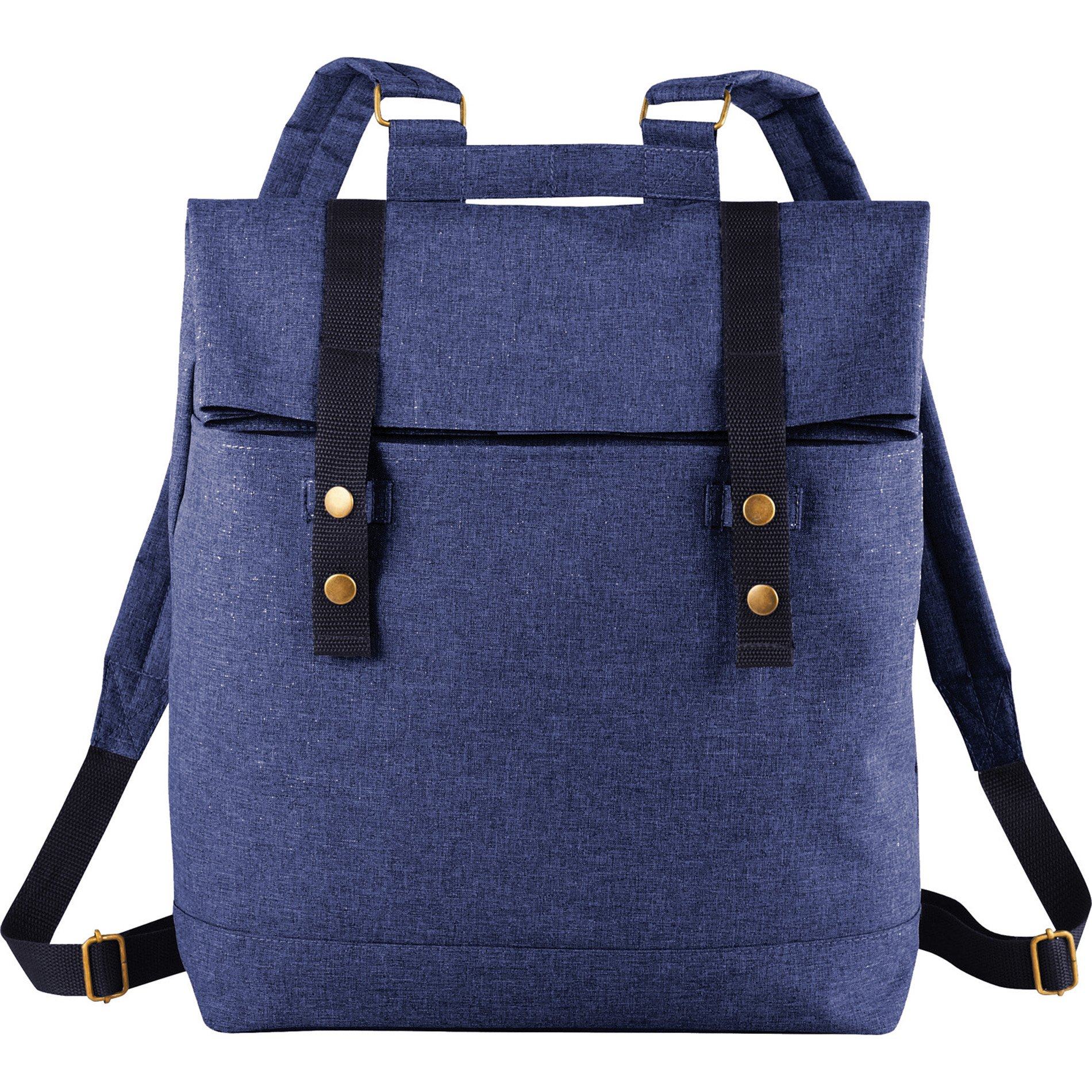 XtitiX Chambray Rucksack Travel Business School Tech Backpack, Blue