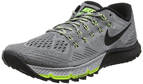meet 82f22 3e2f5 Nike Men s s Air Zoom Terra Kiger 3 Running Shoes Cool Black-Wolf Grey-Volt