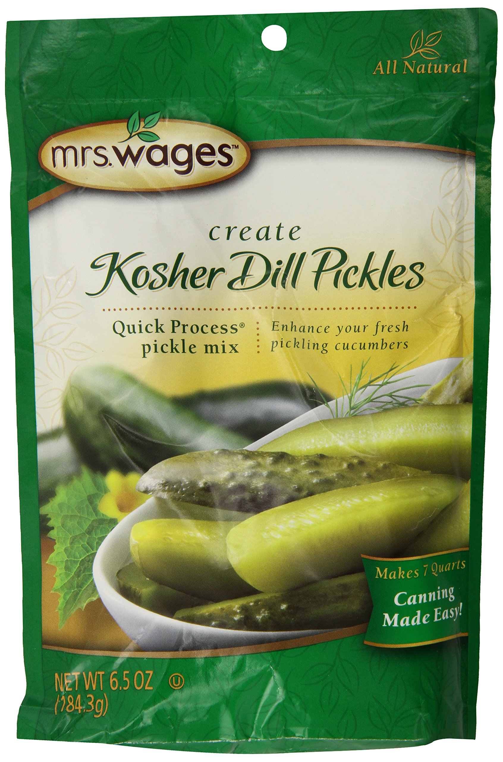 Mrs. Wages Kosher Dill, 6.50-Ounce Packets(Pack of 6)