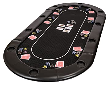 Classic Folding Poker Table Top In Black Suited Speed Cloth And Bag U2013 200cm