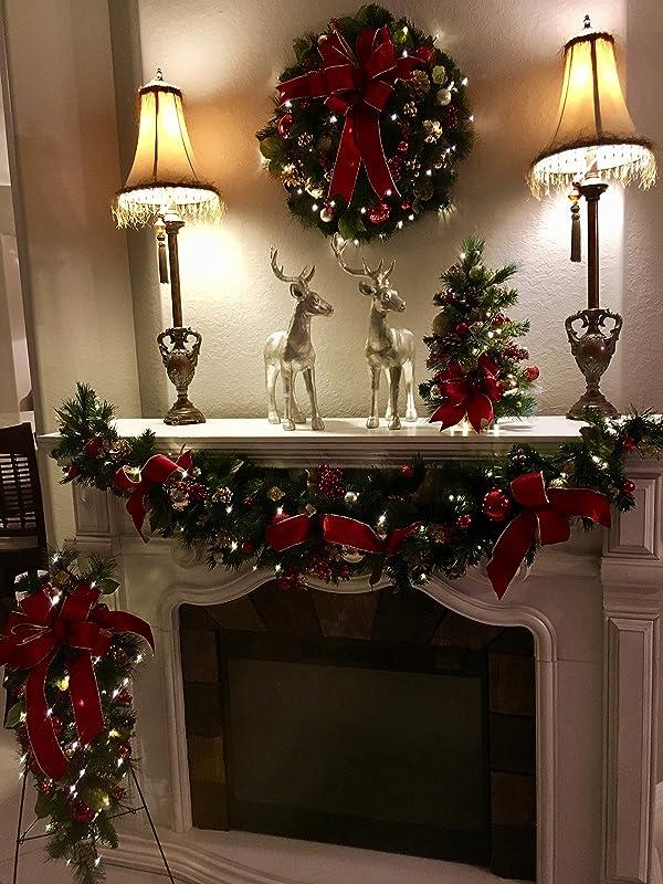 Red Velvet Christmas Wreath