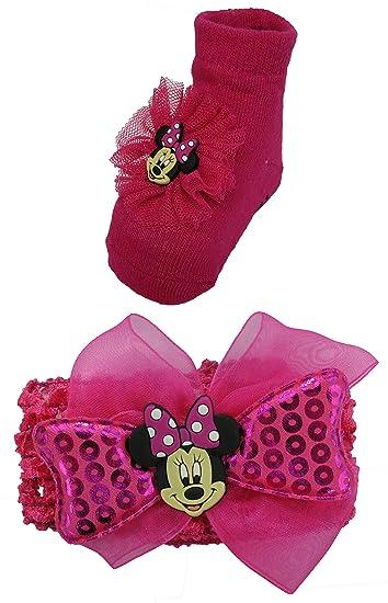 Amazon.com  Disney Minnie Mouse Hot Pink Headband and Socks set - 0 ... 8dfdd2129c7