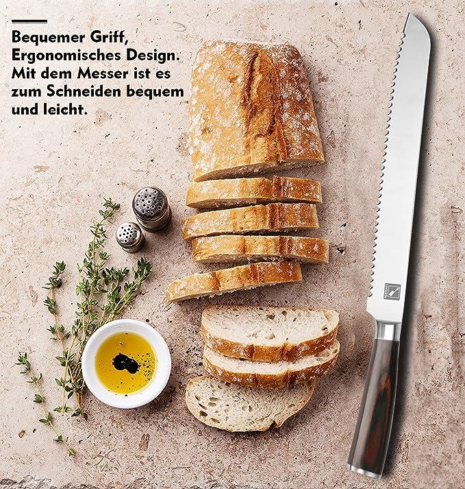 Imarku Cuchillo de pan de Alta Calidad con Mango Ergonómico ...