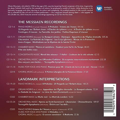 Olivier Messiaen   Olivier Messiaen   20th Anniversary Edition   Amazon.com  Music
