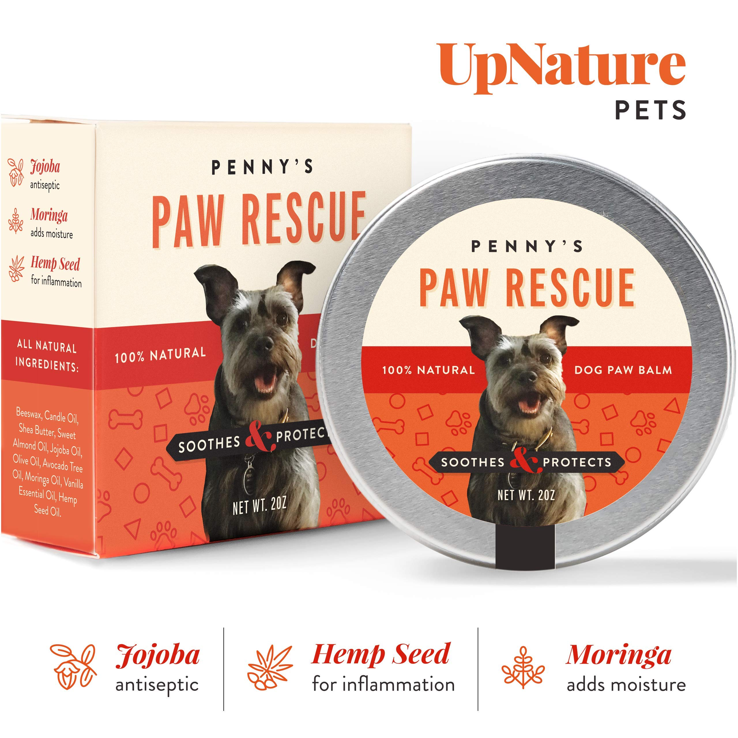 Penny's Paw Rescue – 100% Natural Dog Paw Balm – Relief from Heat, Cold, Allergens & Rough Terrain – Dog Paw Protection…