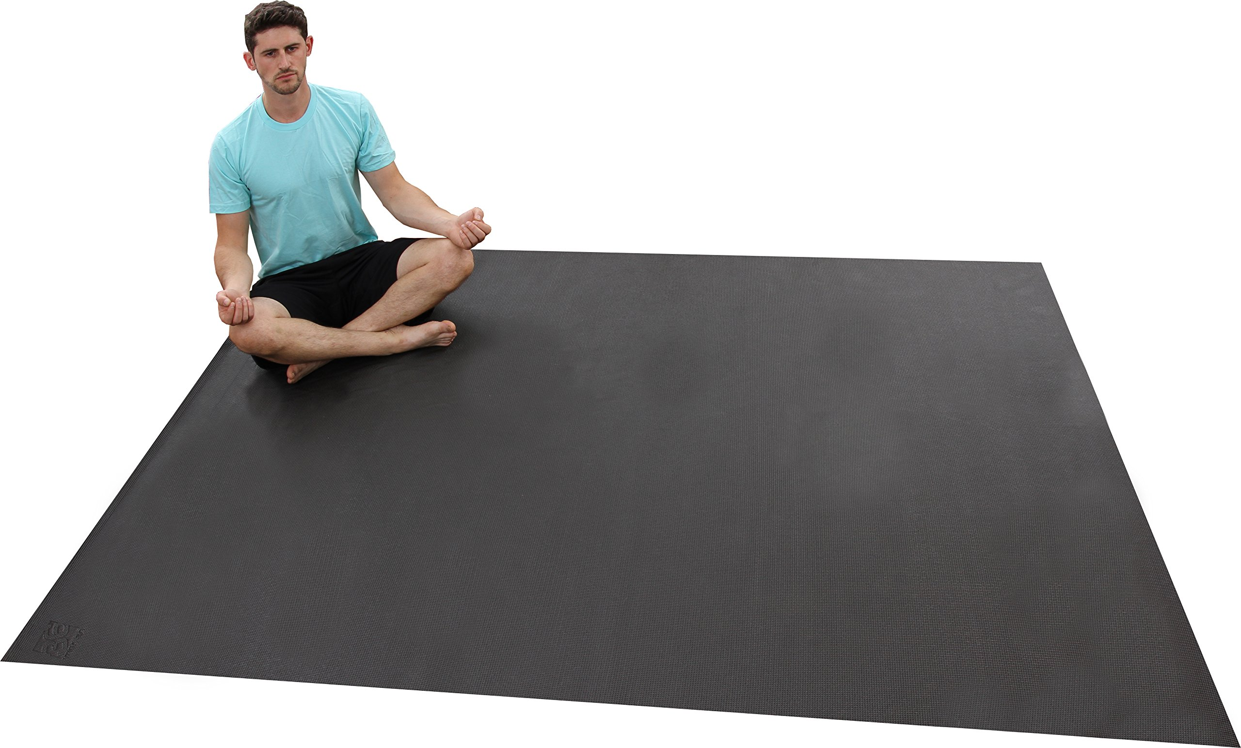 The Largest YOGA Mat Available. 8 Ft x 6 Ft x 6mm Thick. Ideal For Home Yoga Studios. Made From The Highest Grade Premium Non-Toxic Materials. Designed for Home-based Yoga, Stretching, Or Meditation. by Square36 (Image #4)