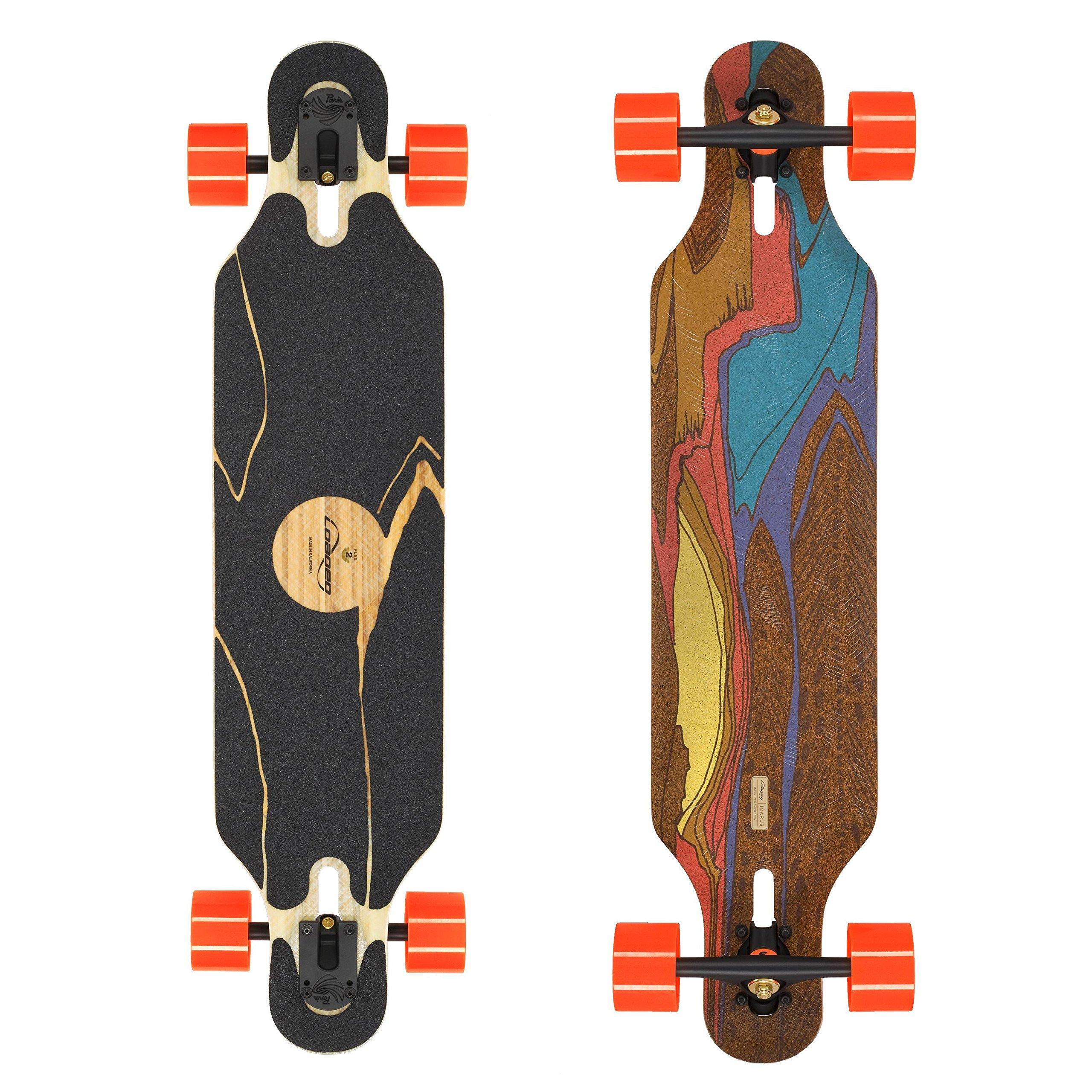 Loaded Boards Icarus Bamboo Longboard Skateboard Complete w/80mm 80a Kegels (Flex 2) by Loaded Boards