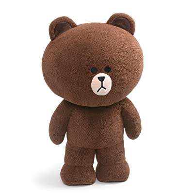 "GUND LINE Friends Jumbo Brown Standing Plush Stuffed Animal Bear, Brown, 23"", X-Large, Multicolor, Model:6054358: Toys & Games"