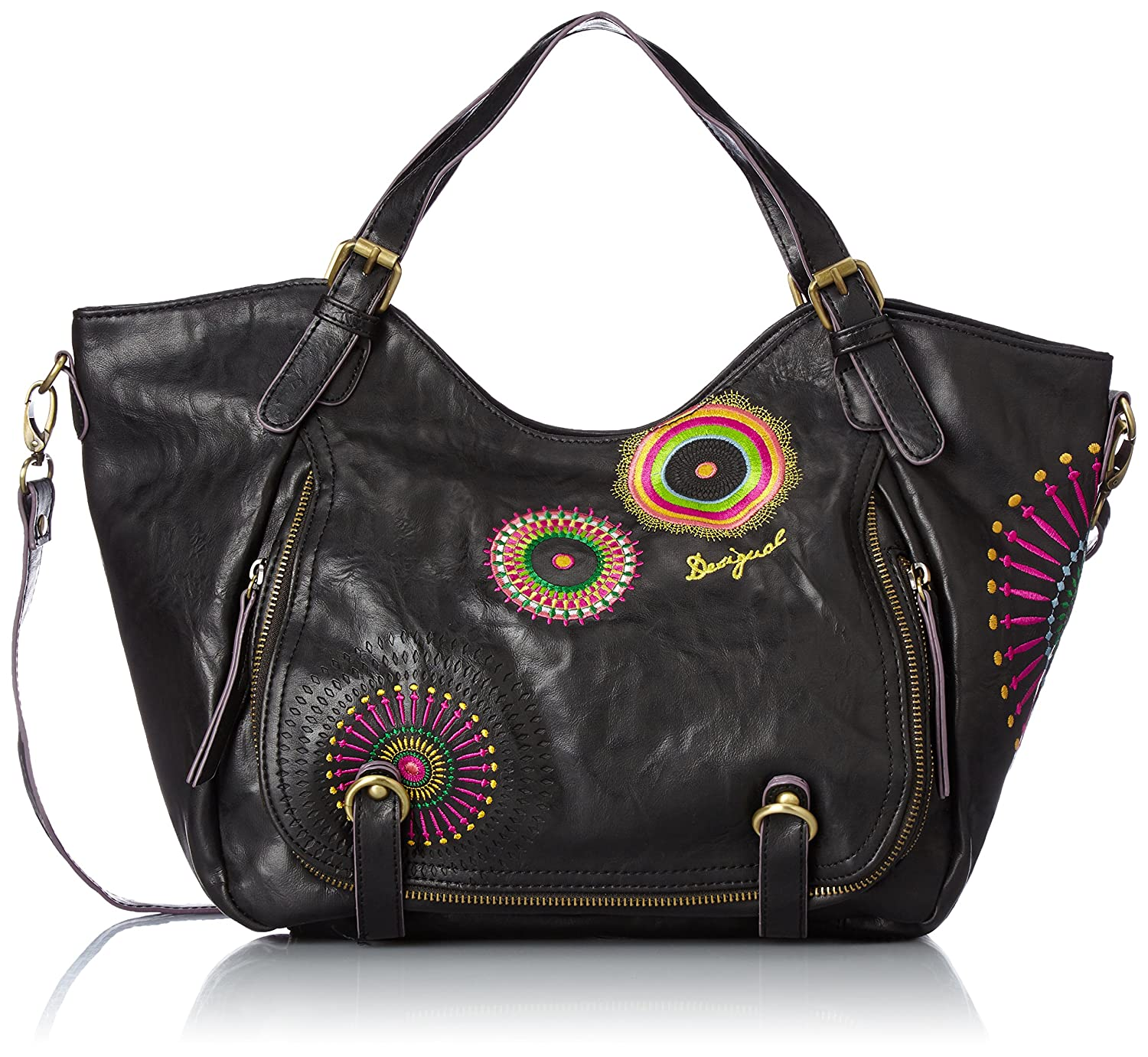 Desigual Women S Bols Rotterdam Audrey Shoulder Bag Brown Size