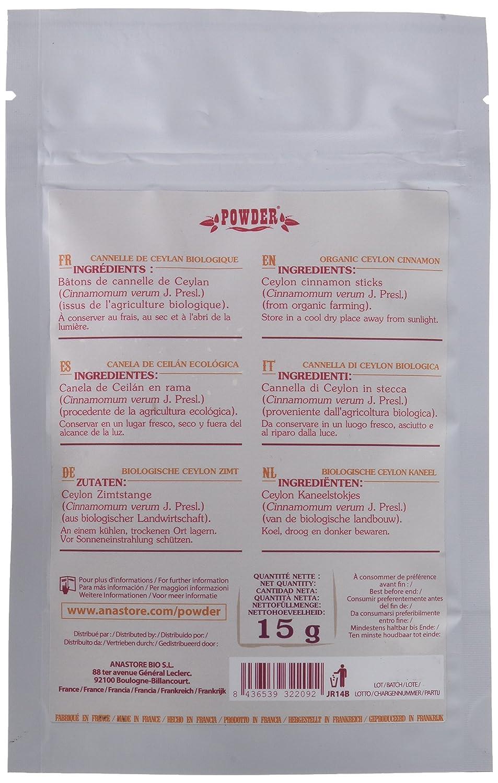 Powder Canela de Ceilán en Rama Ecológica - 15 gr: Amazon.es: Alimentación y bebidas