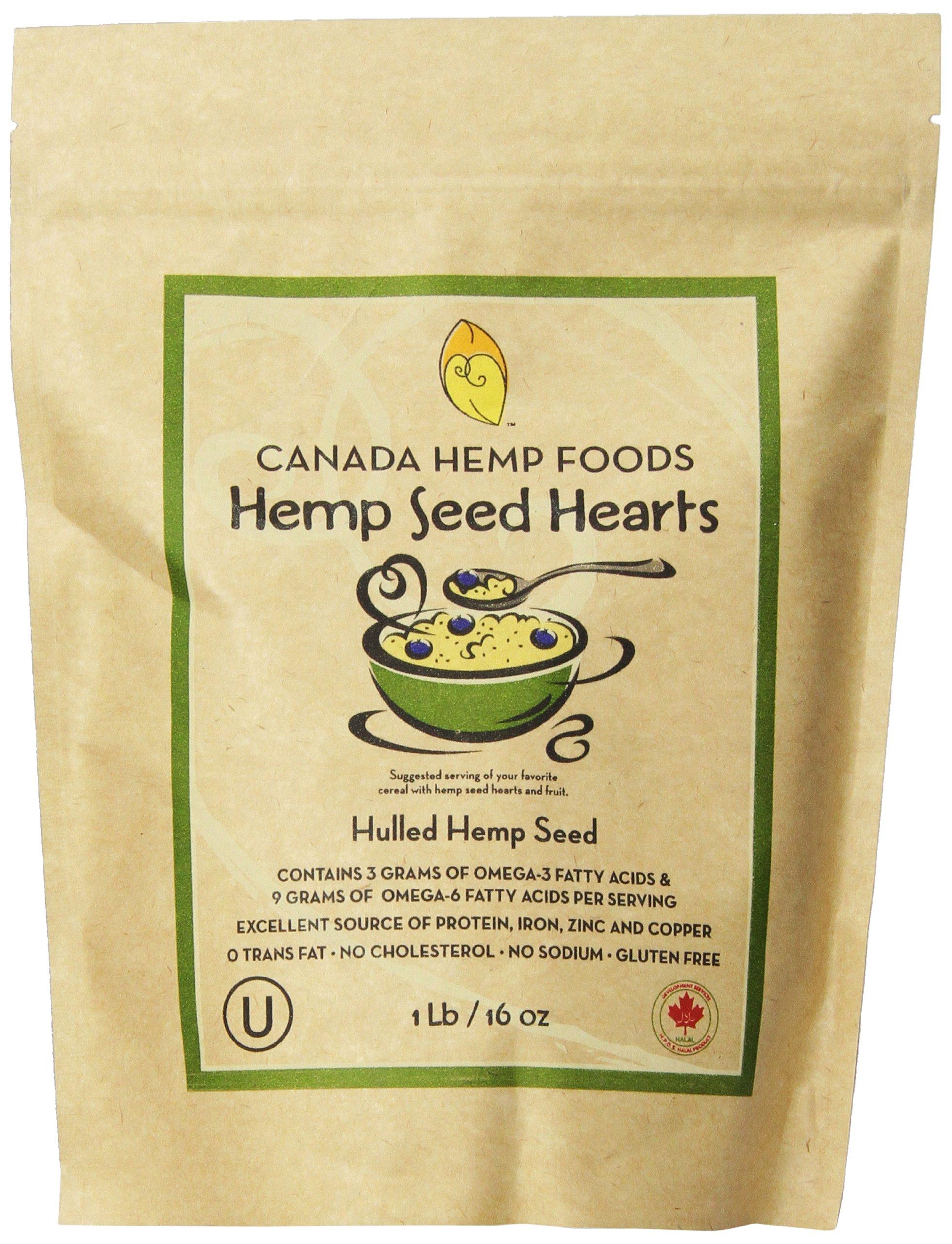 Canada Hemp Foods, Natural Hemp Seed Hearts, 16 ounce pouch