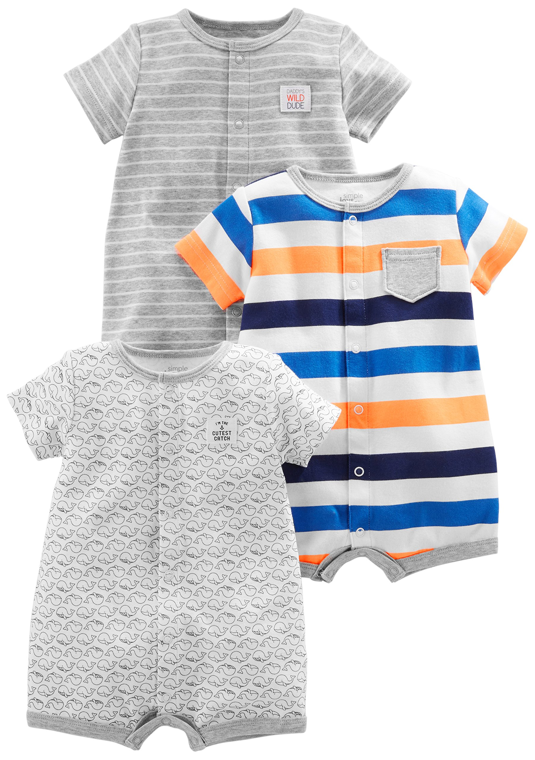 Simple Joys by Carters Baby Boys 3-Pack Snap-up Rompers