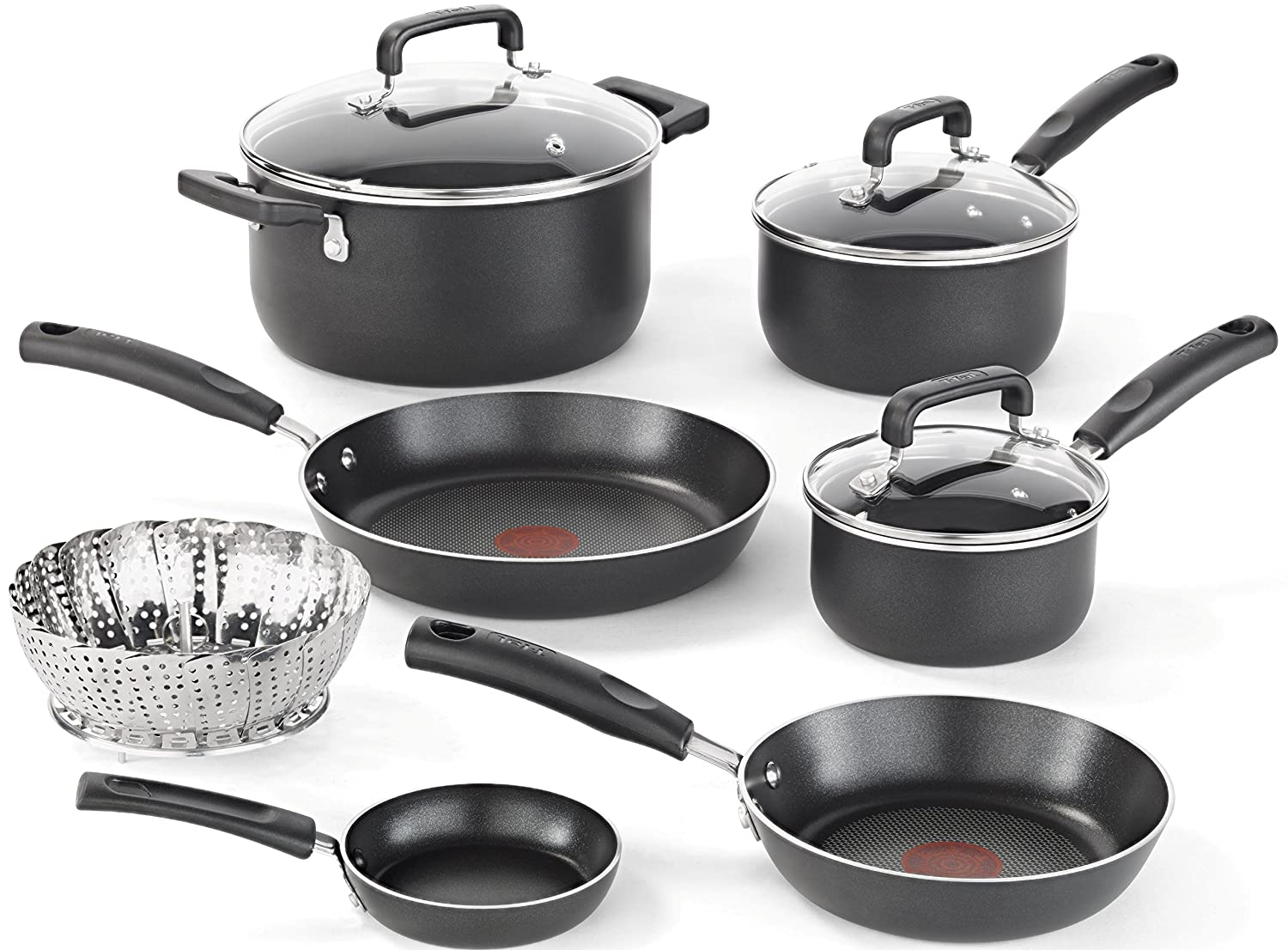 10 Piece Cookware Set Pots Pan Nonstick Dishwasher And