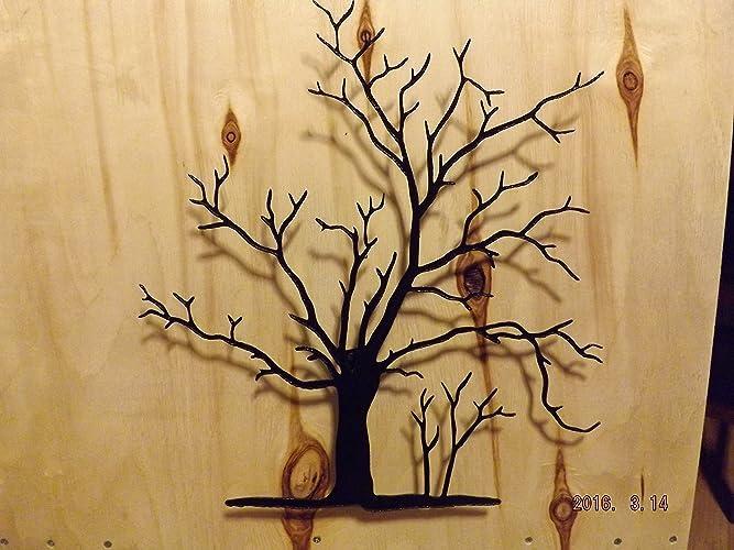 Amazon.com: Beautiful Lodge Handmade Black Metal Wall Art, 3D Fall ...