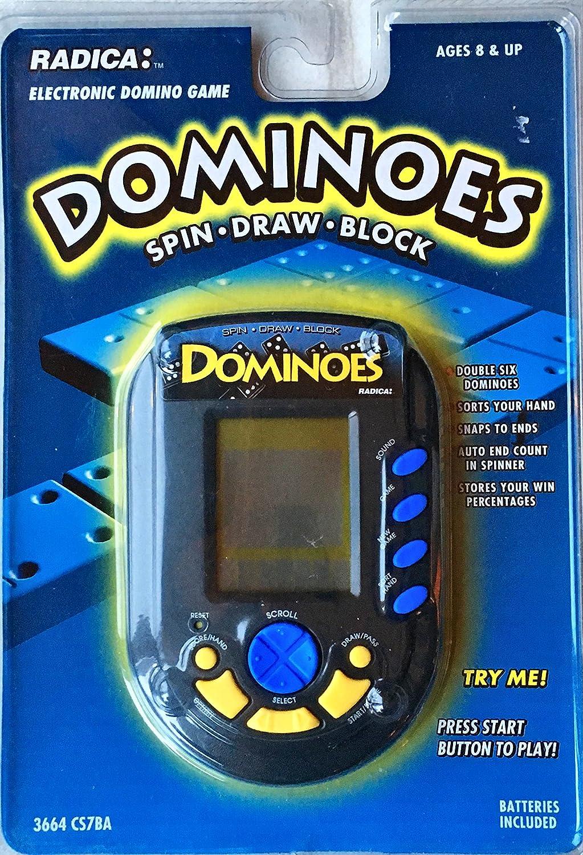 最高の品質 [Radica]Radica USA Ltd. Dominoes Spin, Draw, & Block LCD Handheld Game Model#3664 CS7BA Radica Dominoes Handheld #3664 CS7BA [並行輸入品] B003ZWZD34, マミーショップ 961182a4
