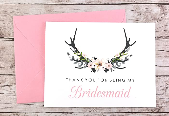amazon com thank you for being my bridesmaid card bridesmaid gift