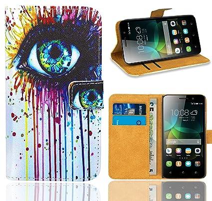 Huawei G Play Mini / Honor 4C Funda, FoneExpert® Wallet Flip Billetera Carcasa Caso Cover Case Funda de Cuero Para Huawei G Play Mini / Honor 4C ...