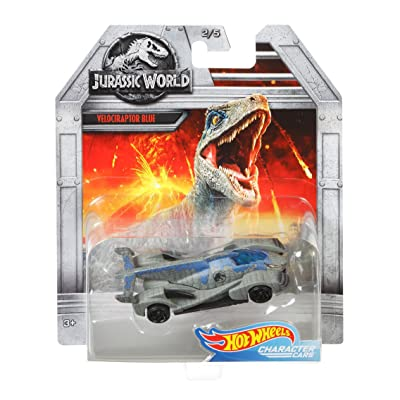 Hot Wheels Jurassic World Velociraptor Blue Vehicle: Toys & Games