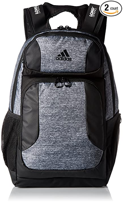 adidas Strength BackPack, Jersey Onix/Black, One Size (2 Pack)
