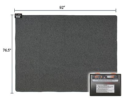 Woo Warmer Under Rug Instant Radiant Floor Heater Electric Mat Electric  Carpet Electric Heated Area Rug Hot Carpet (720 watt 92