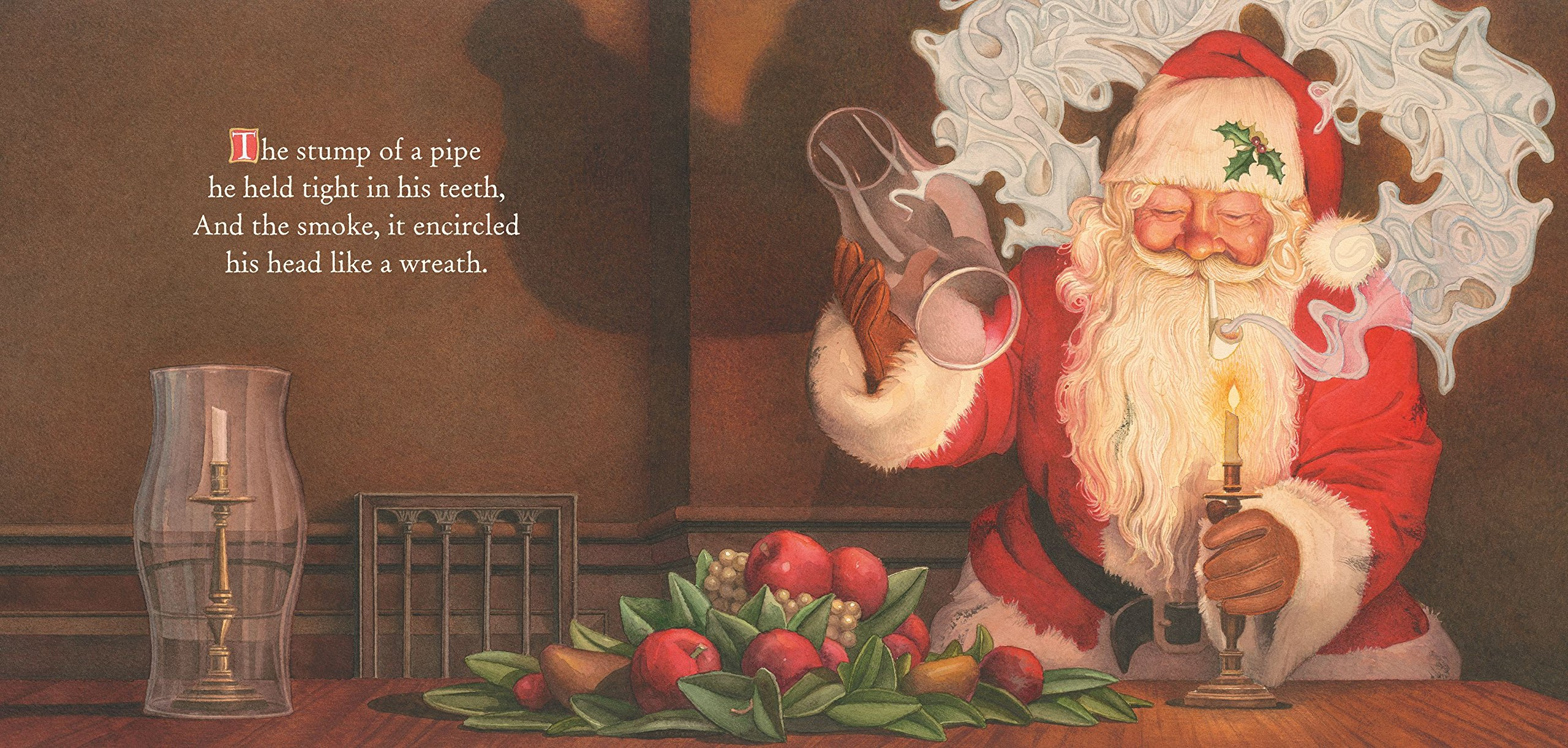 amazoncom night before christmas board book the classic edition 9781604334388 clement clarke moore charles santore books - Christmas Classic