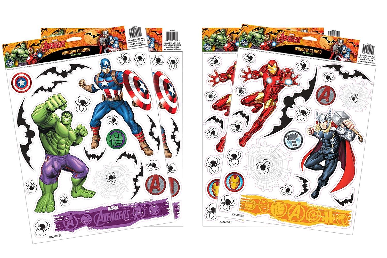 673939c195c Amazon.com  Marvel Avengers Window Cling Set  Toys   Games