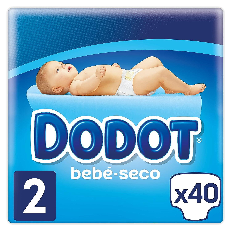 Dodot - Pañales con Canales de Aire Bebé-Seco, Talla 2, para Bebes de 4-8 kg - 40 Pañales Procter and Gamble Spain 81500675