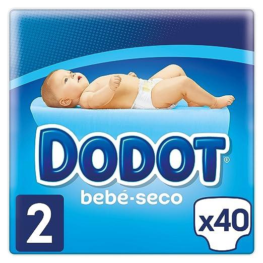 Dodot - Pañales con Canales de Aire Bebé-Seco, Talla 2, para Bebes de 4-8 kg - 40 Pañales: Amazon.es: Bebé