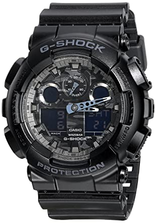 e62495cd0b26 Amazon.com  Casio G-Shock Analog Digital Dial Black Resin Mens Watch  GA100CF-1A  Watches