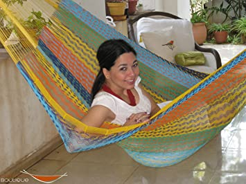 individual mayan hammock multicolor in cotton amazon     individual mayan hammock multicolor in cotton      rh   amazon