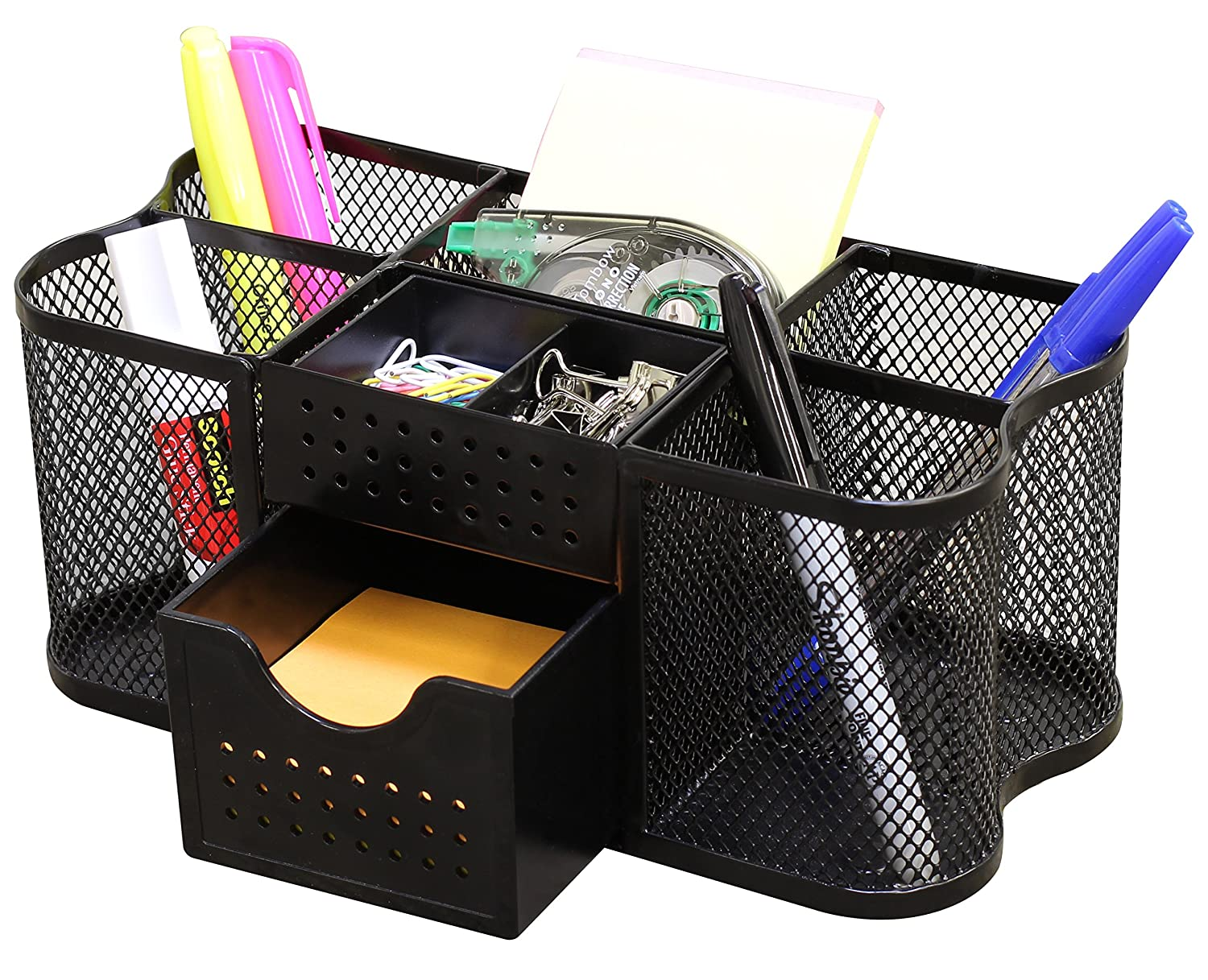 Amazon.com : DecoBros Desk Supplies Organizer Caddy, Black : Office ...