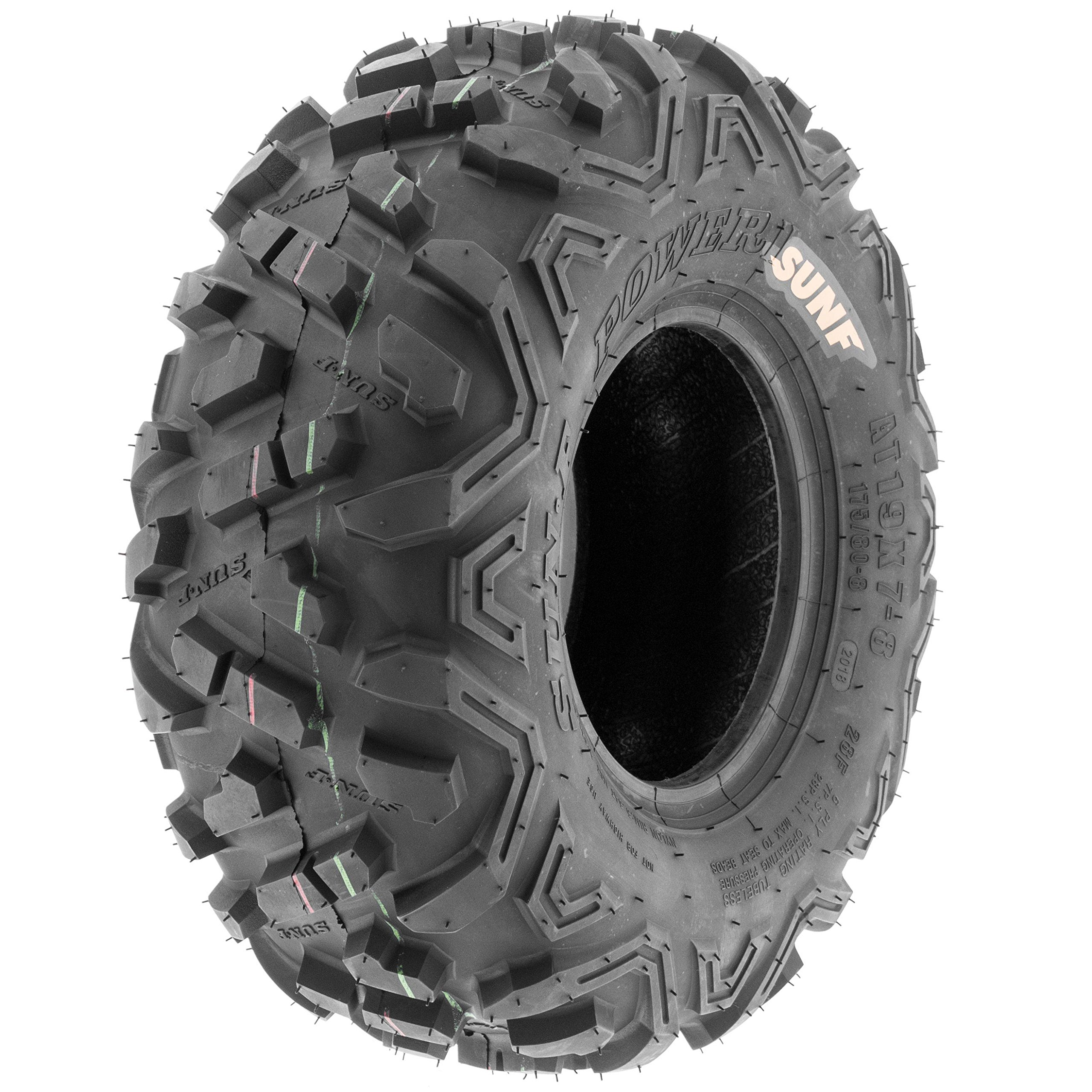 SunF ATV UTV 145/70-6 All Terrain 6 PR Tubeless Trail Tire A051 POWER II, [Single]