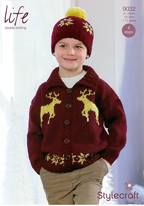 Stylecraft Life Dk Knitting Pattern 9032 Childrens Christmas