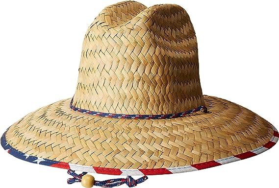 San Diego Hat Company Men s Straw Lifeguard with Under Brim Print -  Small Medium 97d199eedc5b