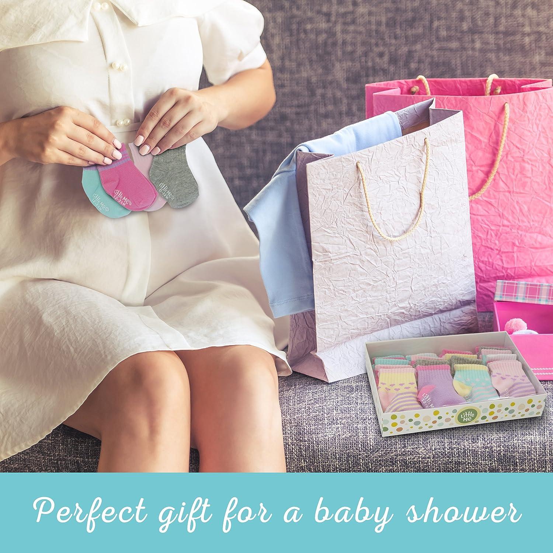 Little Me 20 Pair Pack Unisex Baby Infant Newborn Girls Anklet Socks in Gift Box Set, Sport, Multi, 0-12/12-24 Months