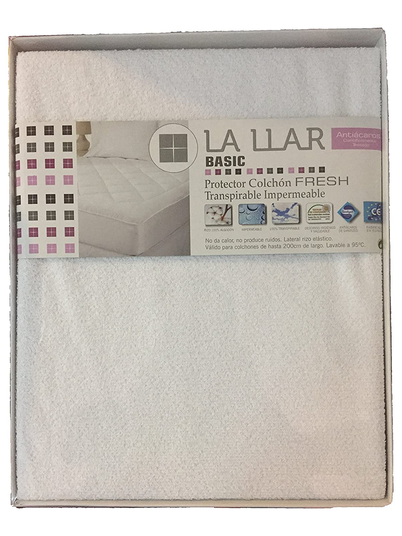 LA LLAR Funda Protector de Colchon Fresh 100% Algodón Transpirable, Impermeable, Antiácaros (120x190/200 (Cama 120)): Amazon.es: Hogar