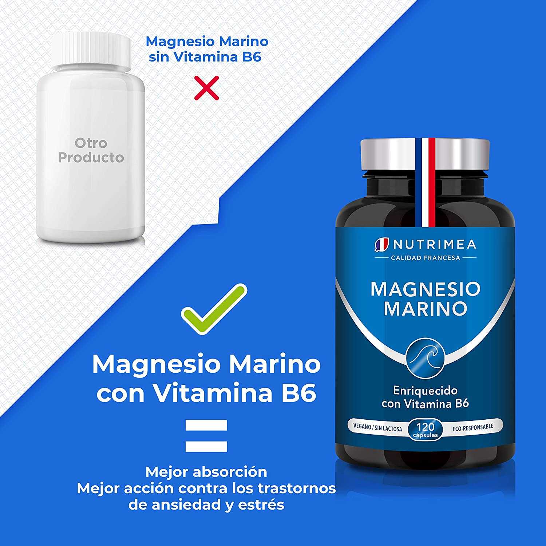 Magnesio Vitamina B6 Cansancio Fatiga Alivio de Calambres Magnesio ...
