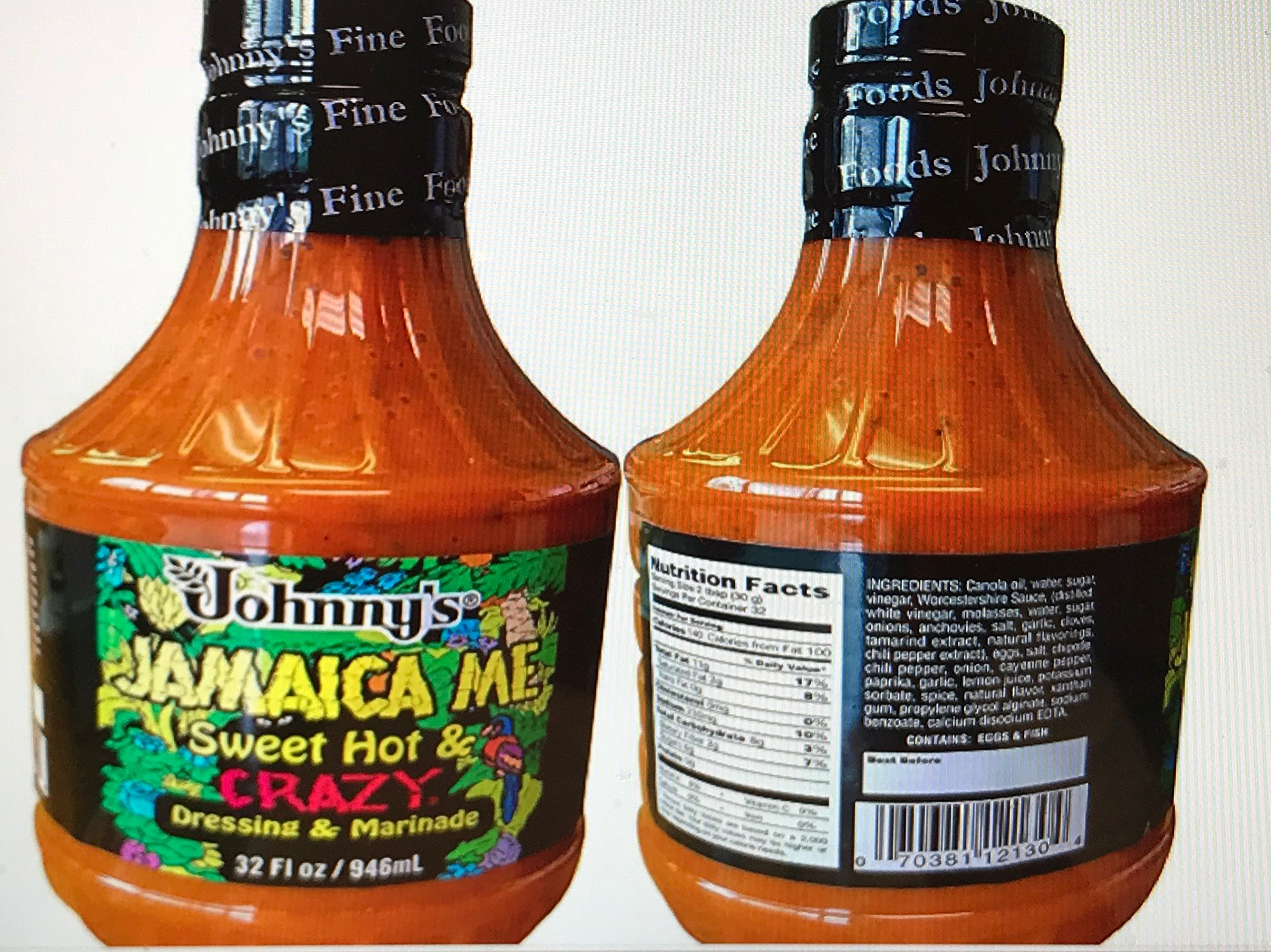 Johnny's Jamaica Me Sweet, Hot and Crazy Marinade Dressing (2 pack) by Johnny's
