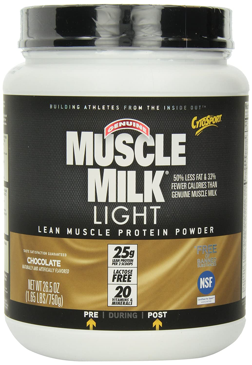 cytosport genuine muscle milk light lean muscle protein powder. Black Bedroom Furniture Sets. Home Design Ideas