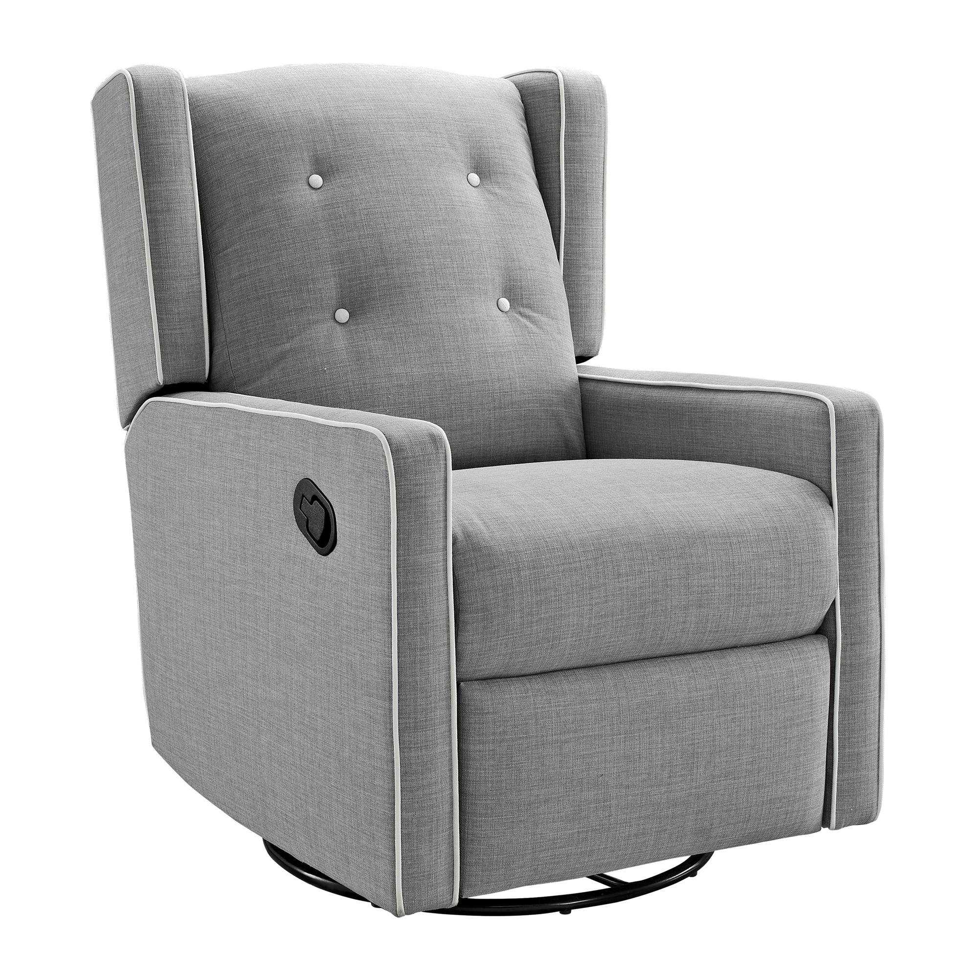 Baby Relax Mikayla Swivel Gliding Recliner, Gray Linen by Baby Relax