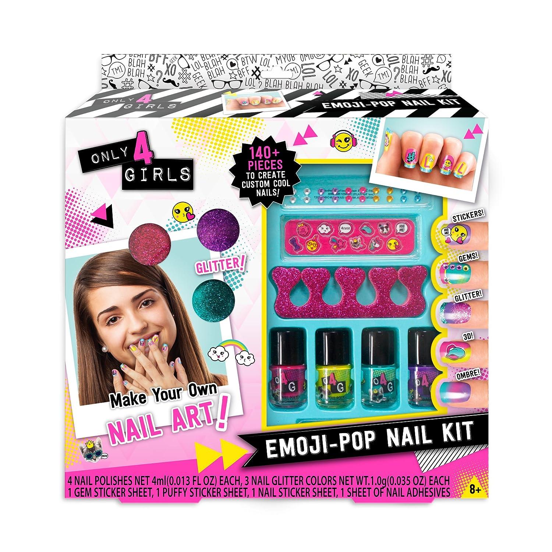 Amazon.com: Only 4 Girls Emoji-Pop Nail Kit: Toys & Games