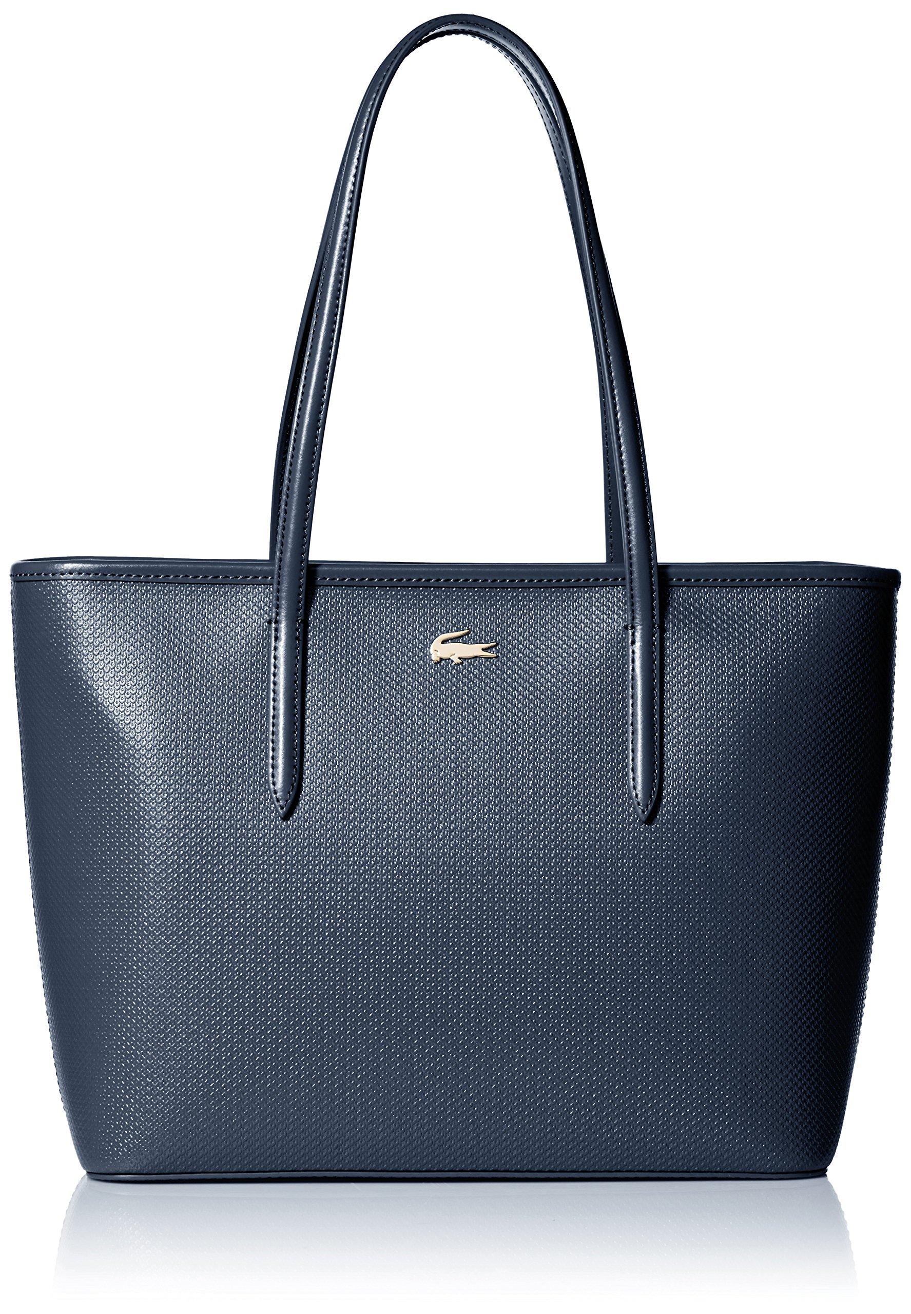 Lacoste Medium Zip Shopping Bag, Nf2116ce, Peacoat