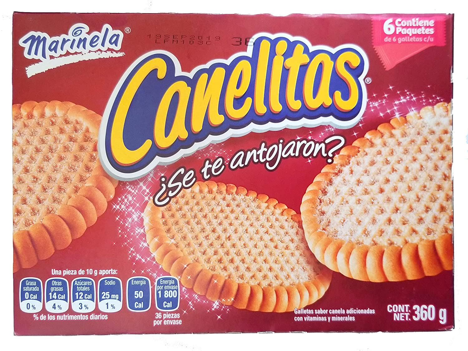Marinela Canelitas, Irresistible Mexican Cinnamon Cookies, 1 box (6 individual bags). Great for lunch, camping, snack. Kids favorite snack. …