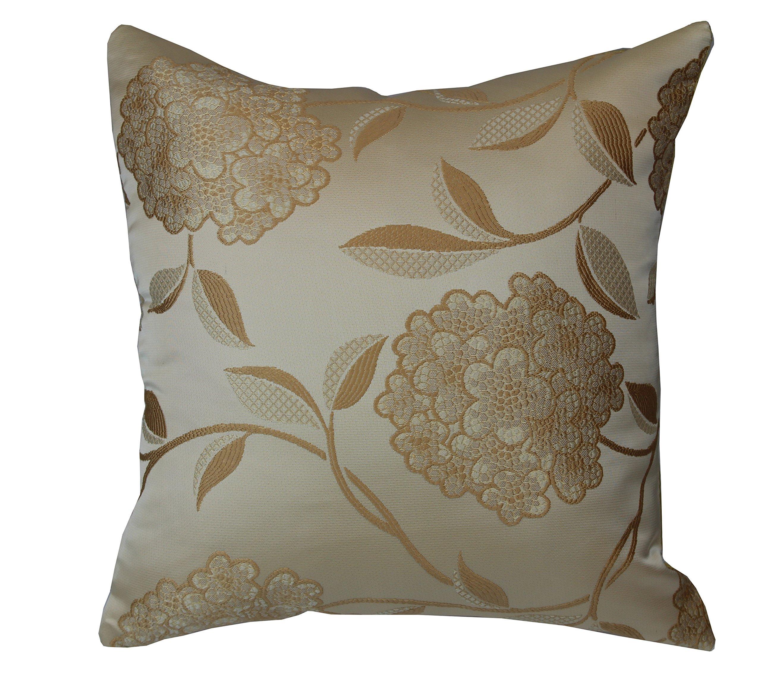 Violet Linen VL-68875-VENETIAN-PILLOW-GL Vintage Collection Luxurious Venetian Decorative Throw Pillow, 18'' x 18'', Gold