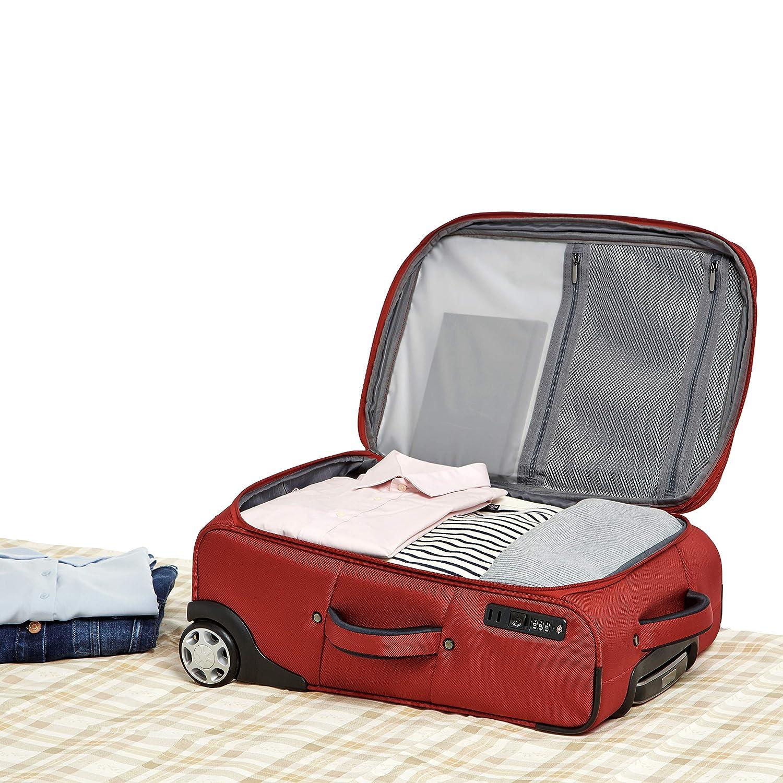Red 22 Inch Basics Premium Upright Expandable Softside Suitcase with TSA Lock