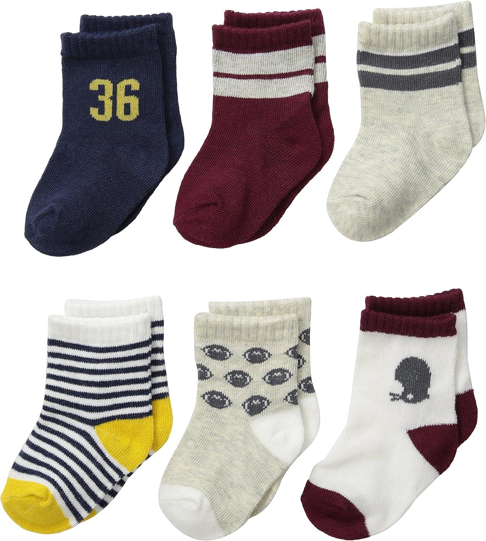Carter/'s Baby Boys/' Newborn 6 Pack Sport Computer Socks 0-3 Months Multi